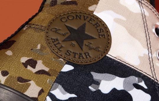 流行元素集一身!Converse迷彩拼接版Chuck Tylor已上线!