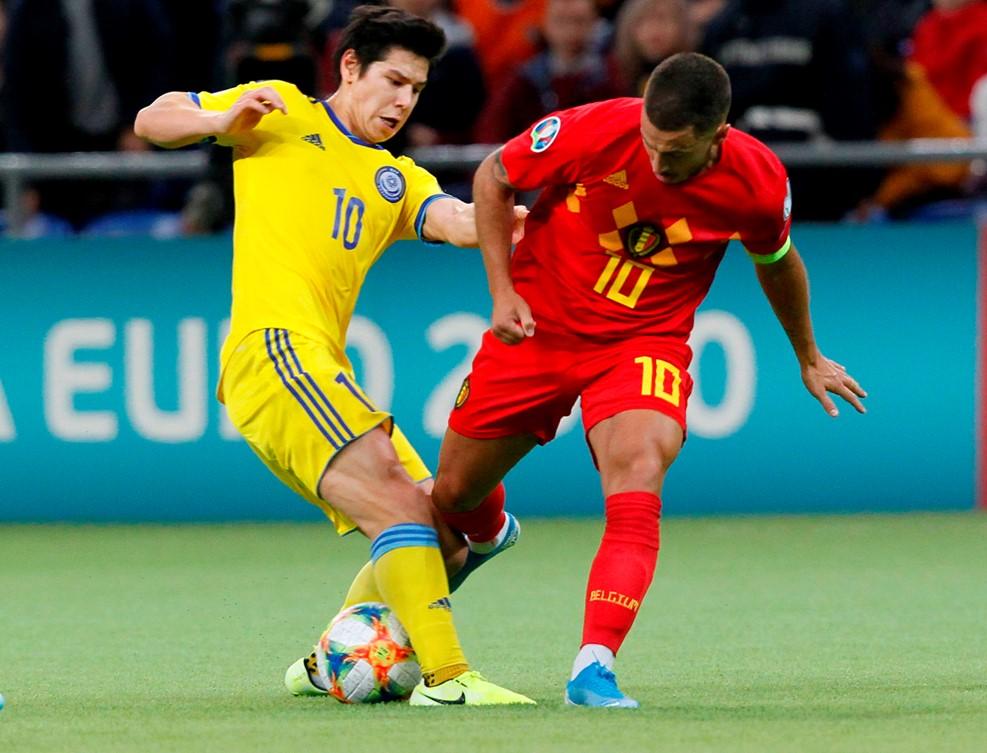 欧预赛-阿扎尔送助攻巴舒亚伊破门 比利时2-0客胜