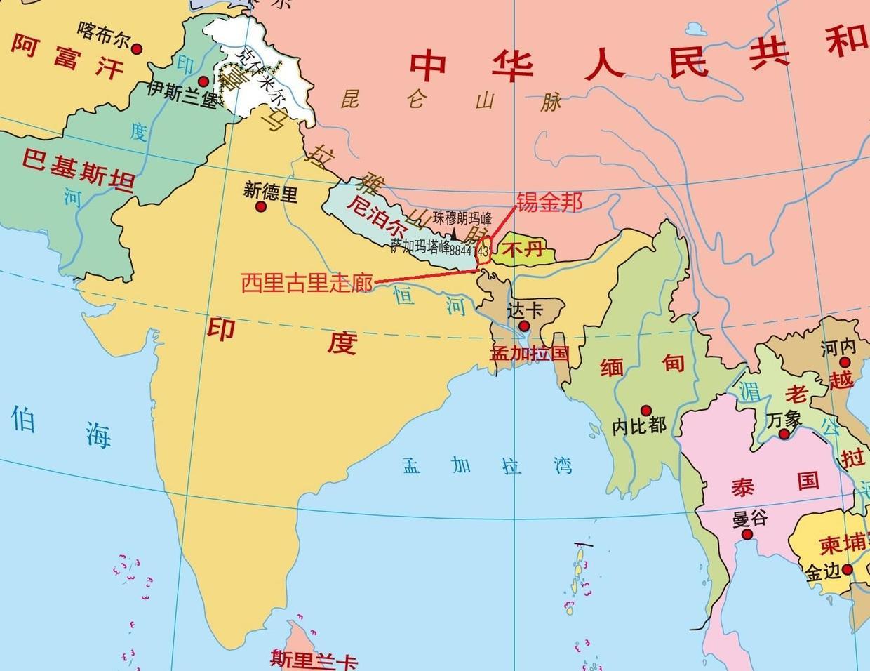 """锡金本是南亚一个小国,为何印度不惜一切代价也要""""吞并""""锡金?"""