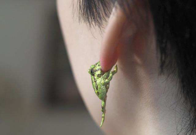 原创             日本人把青蛙做成耳坠,造型奇葩到家了