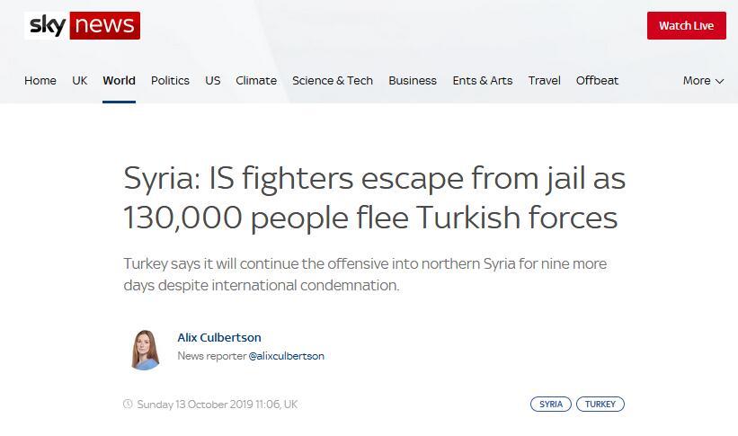 叙利亚北部激战正酣,英媒称部分IS武装分子越狱