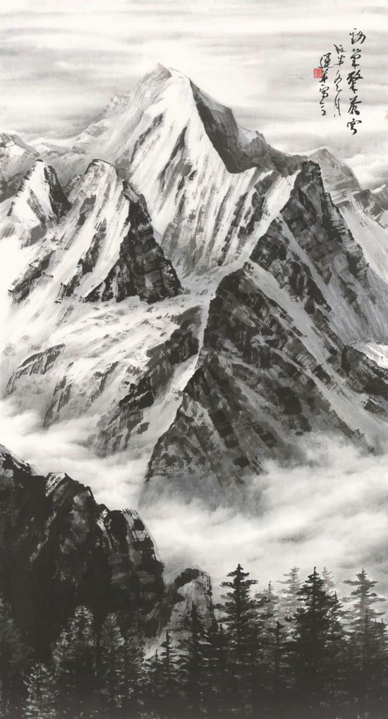 展大国峰光,歌圣境脊梁――高原雪山画派作品展首次亮相世界屋脊