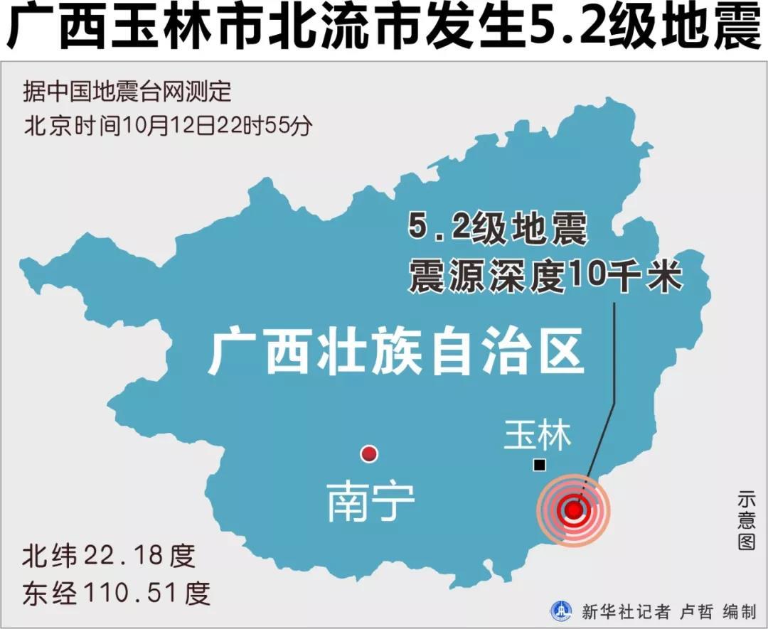 广西北流市因地震个别房屋出现裂缝铁路部门扣停9趟列车