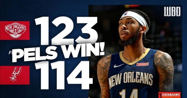 鹈鹕123:114战胜马刺,喜迎NBA季前赛4连胜,锡安连续三场20+
