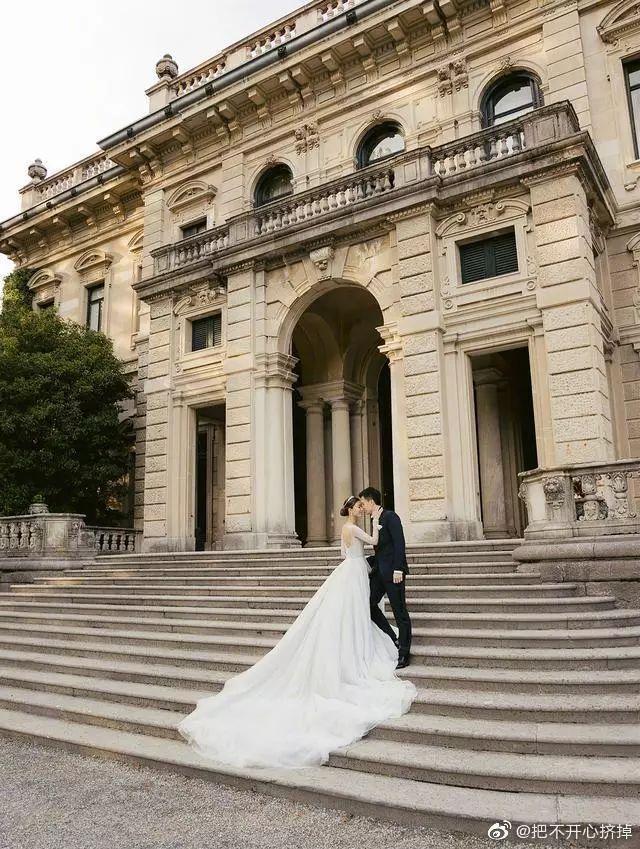 文咏珊意大利古堡大婚,这一次她和Angelababy到底谁赢了?