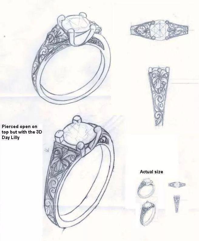 首饰手绘图2000款合集礼包丨项链 戒指 胸针 手链 手镯手绘图免费拿