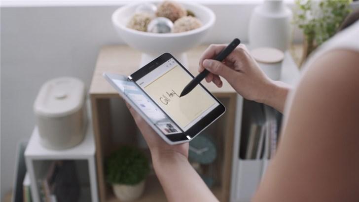 微软SurfaceDuo新专利曝光:电池续航时间更精确
