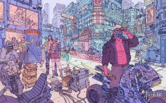《賽博朋克2077》四張精美藝術圖開賣四大幫派亮相
