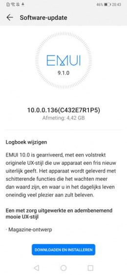华为Mate20Pro开升安卓10:荷兰版已经更新