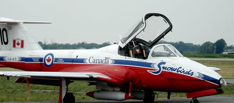 美本土传来一声巨响,加拿大一架军机硬生生坠毁,现场升起蘑菇云