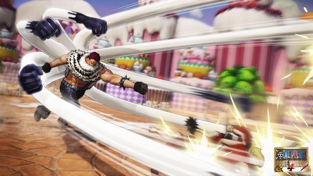 《海贼无双4》公开新截图卡塔库栗、蛇人路飞宿敌再相见_夏洛