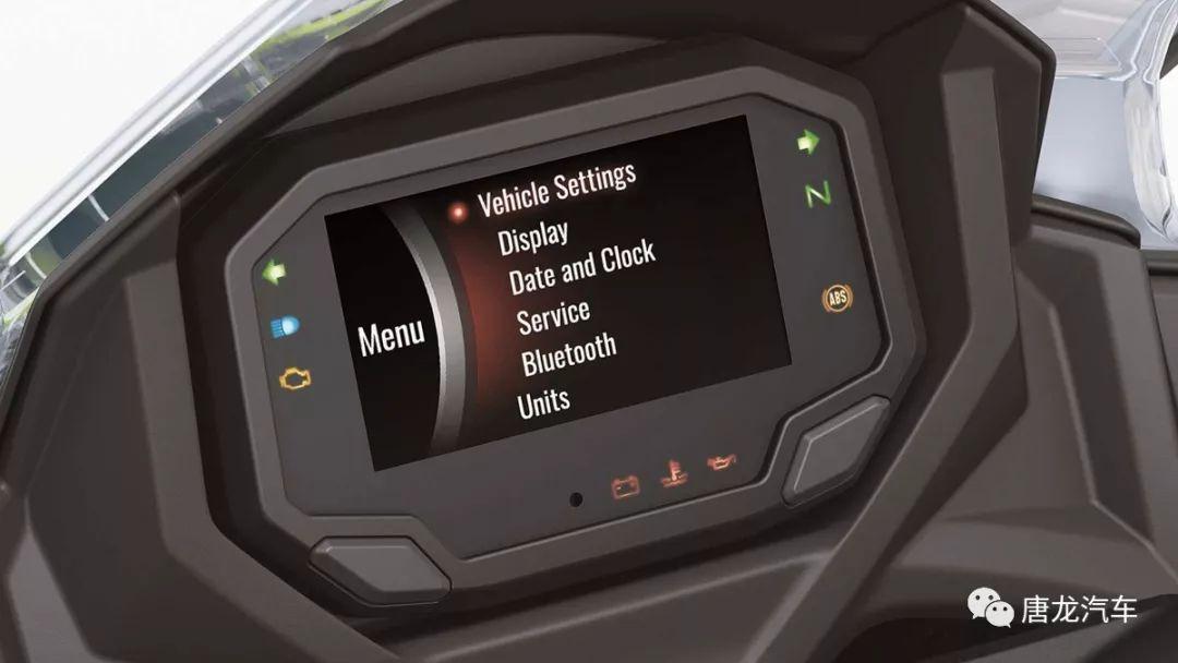 tft全彩仪表能透过rideology与智慧手机连结