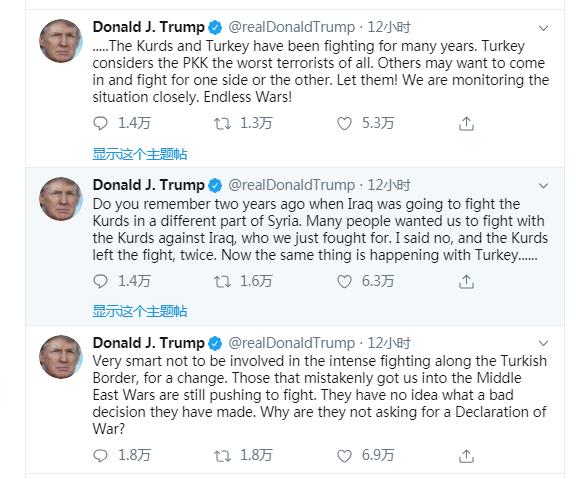 美防长曝总统下令从叙利亚撤走剩余兵力,特朗普:不卷入战斗特明智