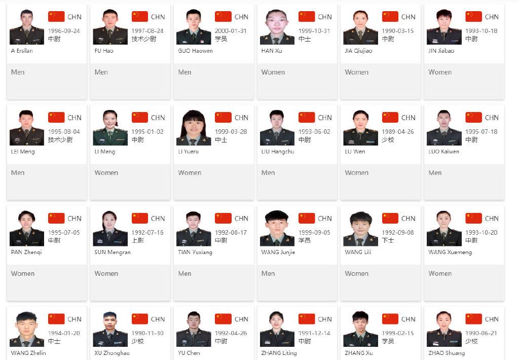 军运会中国男女篮名单公布 王哲林韩旭李月汝出战