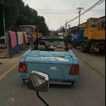 搞笑GIF动态图】敞篷跑车买不起呀!_段子