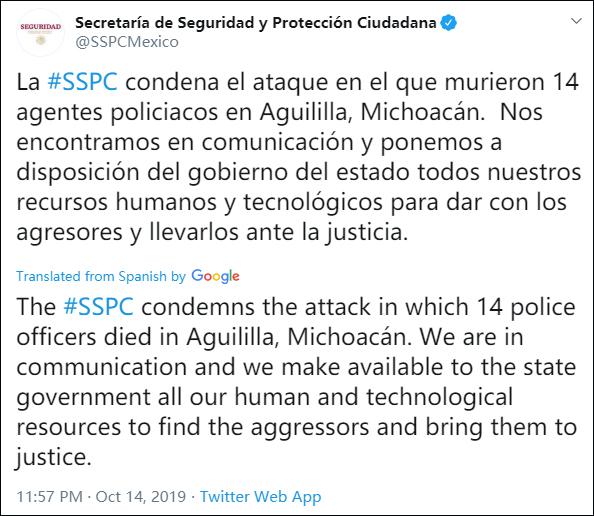 现场惨烈,墨西哥14名警察被毒贩伏击身亡