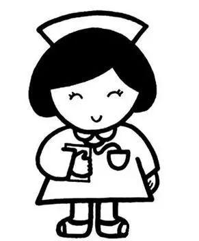 白衣天使护士简笔画图片 白衣天使护士儿童绘画图集