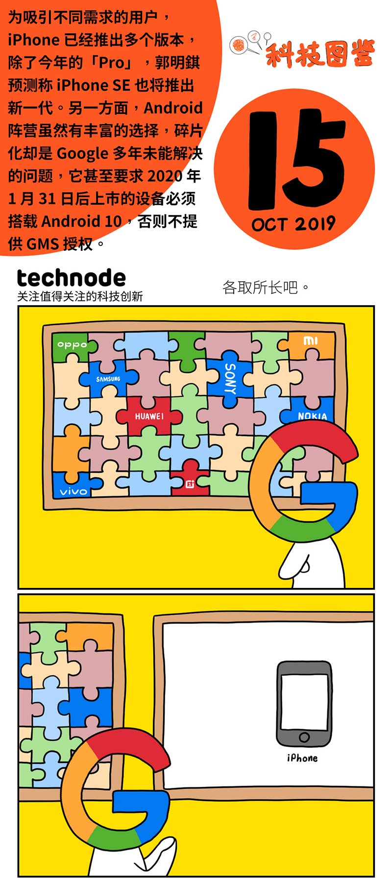 科技图鉴|Google和苹果,各有各的不幸