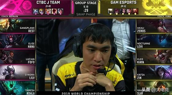 "LOL-S9小组赛:GAM""膀胱无敌"",击败JT赢得""Rank之战"""