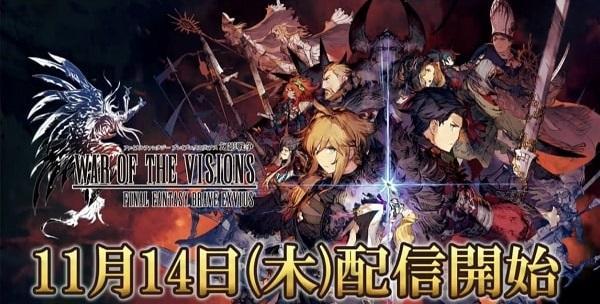 《FFBE幻影战争》宣布游戏将于11月14日推出