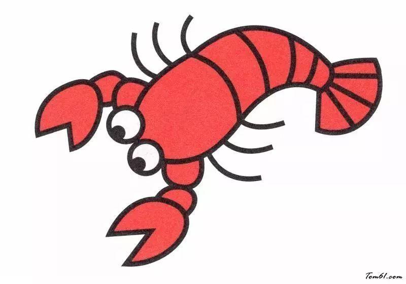 小龙虾简笔画画法 怎么画小龙虾的简笔画 简笔画动物 儿童简笔画图片大全