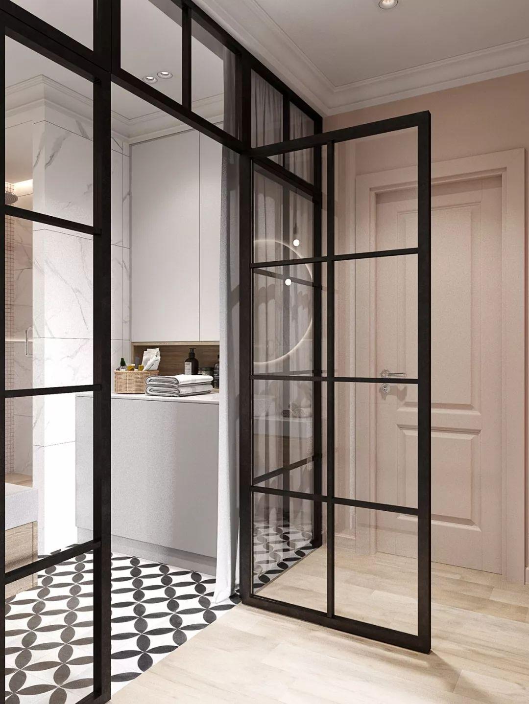 欣赏不一样的浴室门装修设计效果图_学习啦