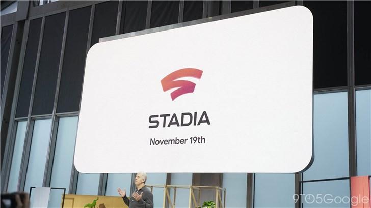谷歌Stadia云游戏将在11月19日正式上线