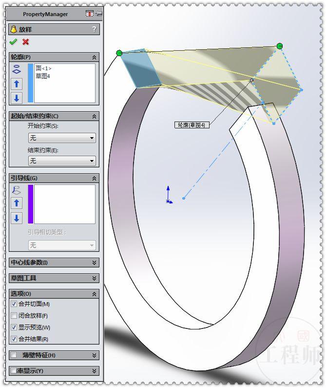 用SolidWorks画一个Z字形的圆环,像这类图,思路比操作更重要
