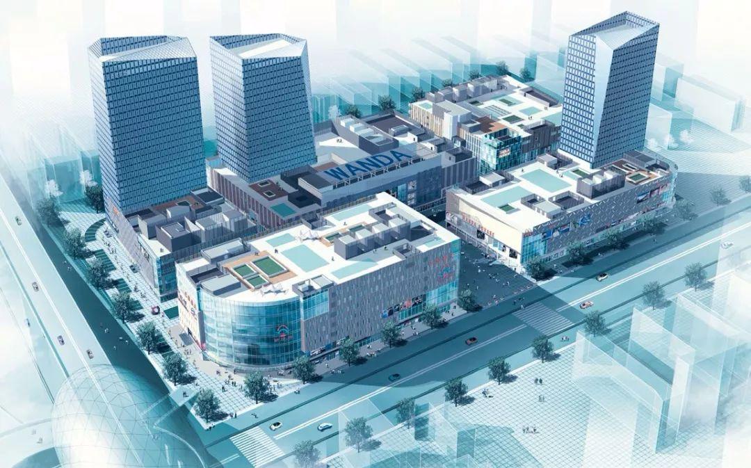 蓬江万达广场总平面图