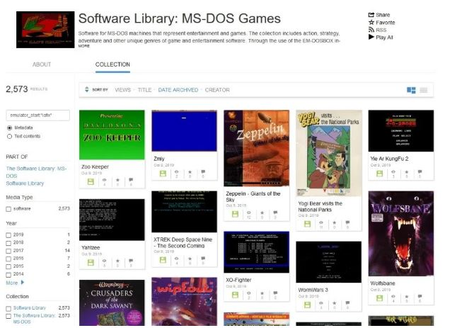 互联网档案馆新增了2500款MS-DOS游戏_Archive