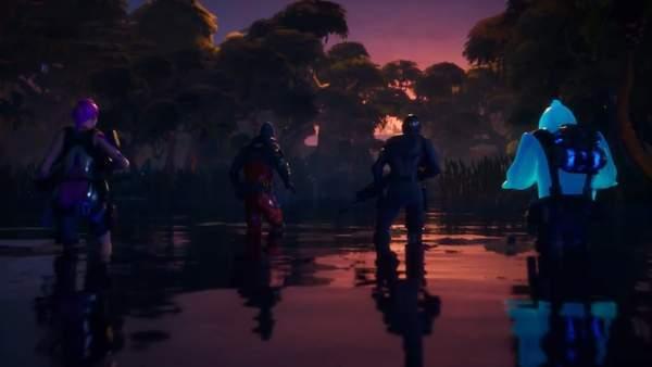 《堡垒之夜》第二章预告快艇水战,休闲钓鱼拿金装