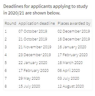 爱丁堡大学TESOL专业分轮递交截止及出结果时间