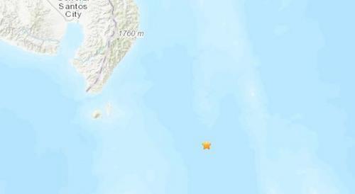 菲律宾南部附近海域发生5级地震震源深75.3公里
