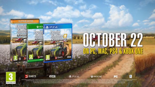 《模拟农场19白金版》上市宣传片可用设备超380个_玩家
