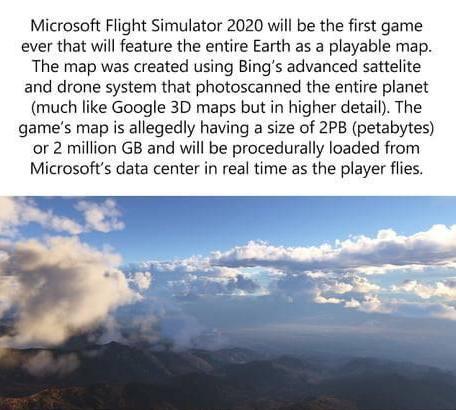 《微软飞行模拟》地图信息引热议网友调侃想去51区_游戏