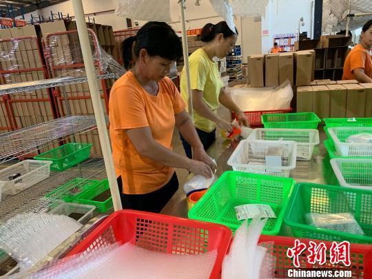 广东东莞跨境电商进口货物迅猛增