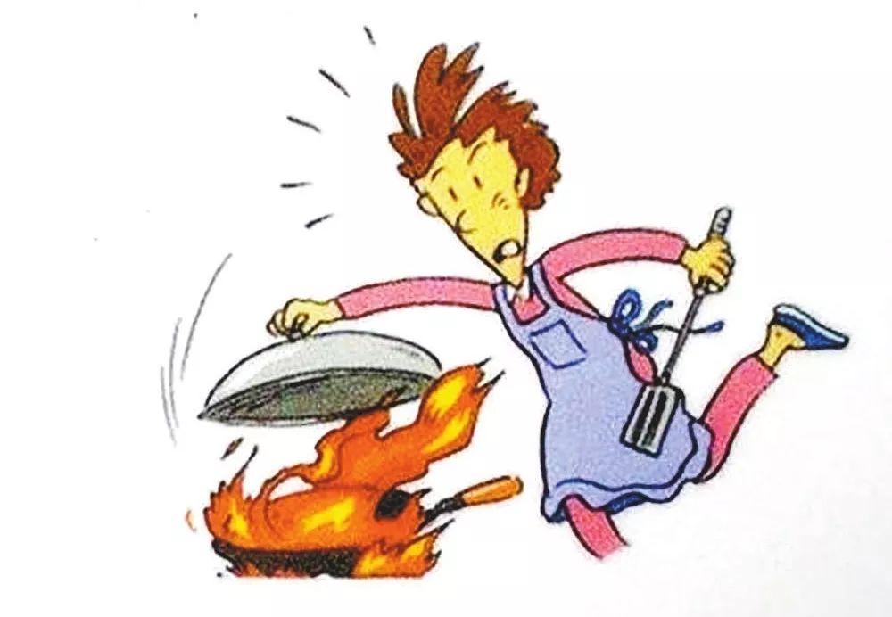 炒菜时油锅着火 用什么方法灭火