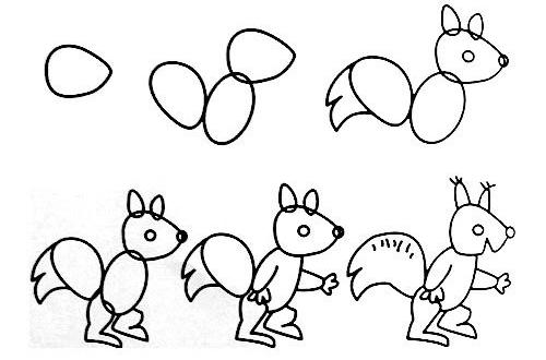 儿童教育丨教孩子画各种动物,不懂绘画的粑粑