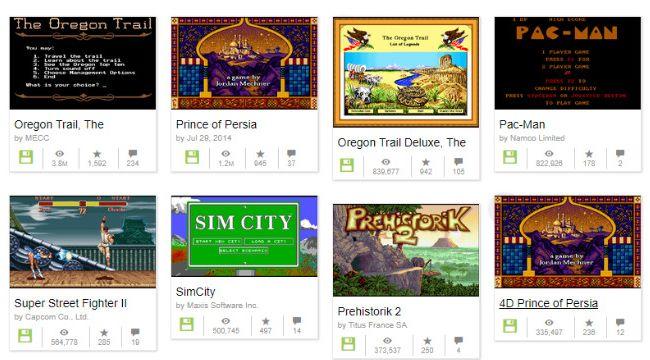 互联网档案馆最近收录了几千款DOS游戏