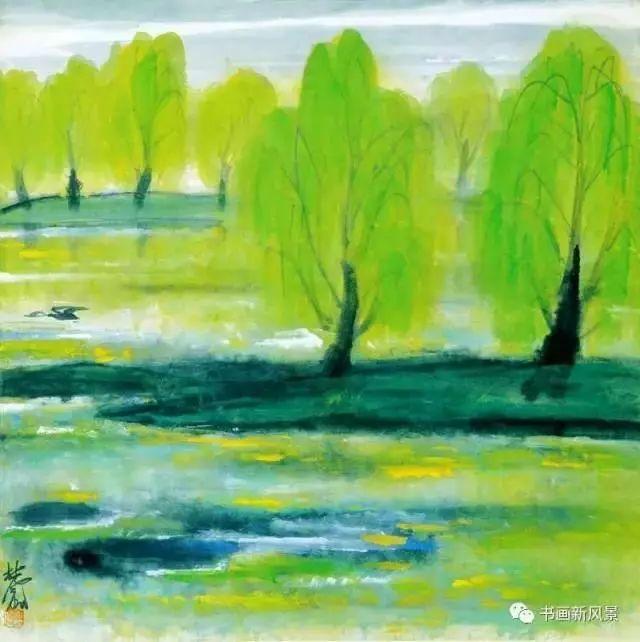 林风眠画柳,暖人心