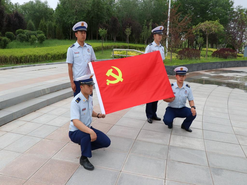 白 银:大中队组织全体党员开展