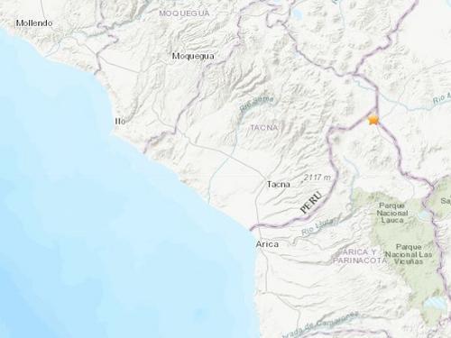 秘鲁塔拉塔东北部发生4.5级地震震源深度172千米