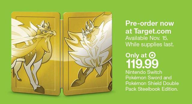 《精靈寶可夢:劍/盾》公布豪華版金色鐵盒包裝_收藏版