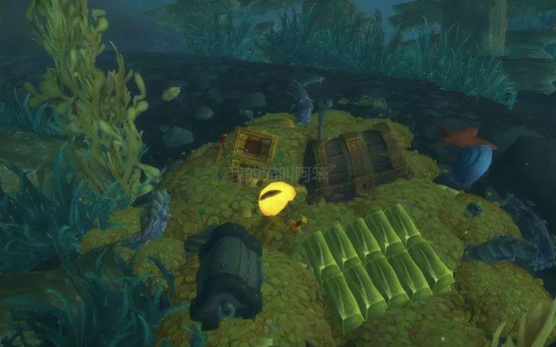 魔兽世界沉船残骸里的暗月之眼和触须,提拉加德海峡海底的小玩意