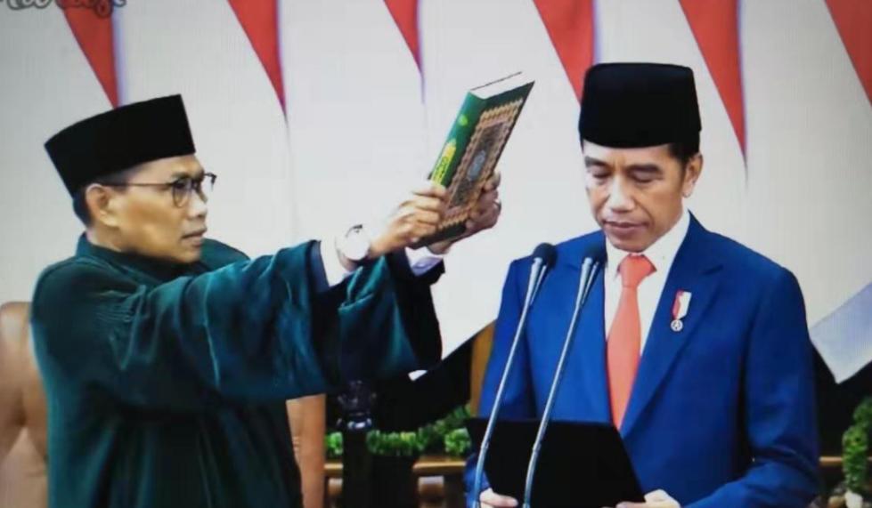 印尼总统佐科宣誓就职第二次领导印尼