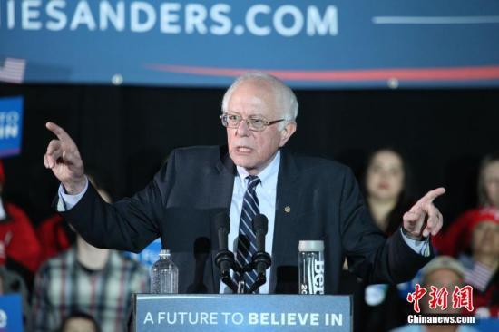 桑德斯心脏病发后重回民主党初选逾2万人到场支持