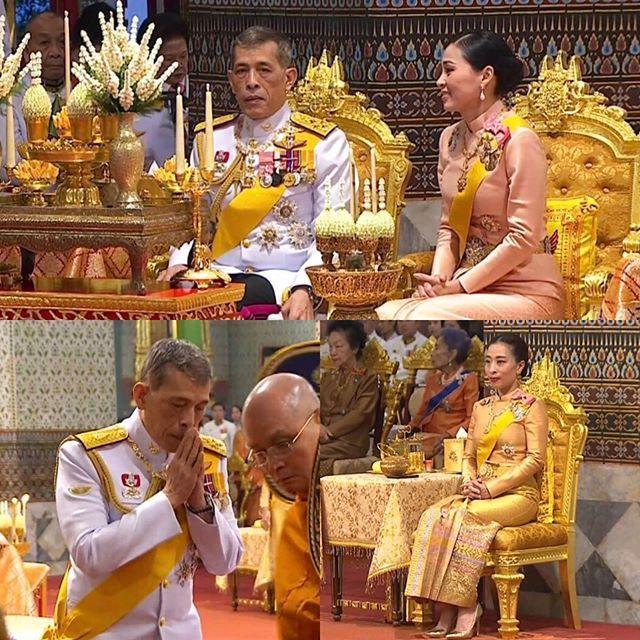 """41岁泰国王后和40岁""""继女""""亮相!同穿裹身裙比美,气质难分高下"""