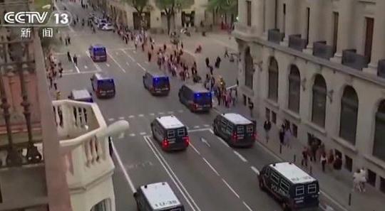 西班牙加泰乱局:警方逮捕超300名暴力示威者