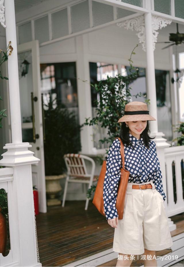 初秋衬衫如何搭?分享三木博主搭配的五分短裤,高级、时尚又复古