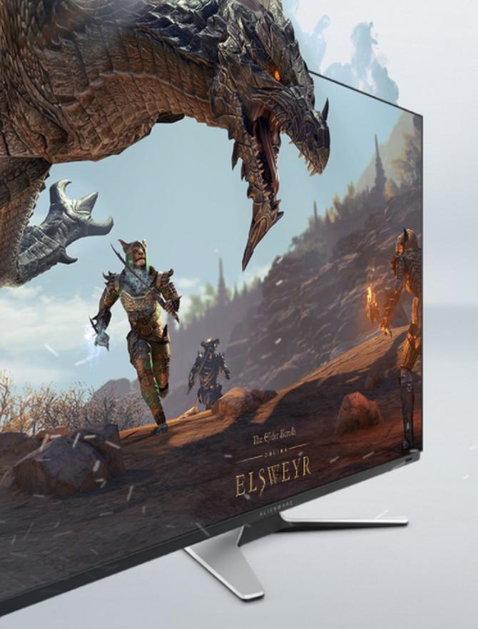 外星人推出旗下首款OLED电竞显示屏,拥有54.6英寸的4K钜幕_游戏